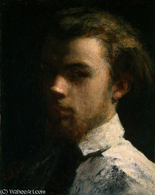 self portrait, 1858 by Henri Fantin Latour (1836-1904, France)
