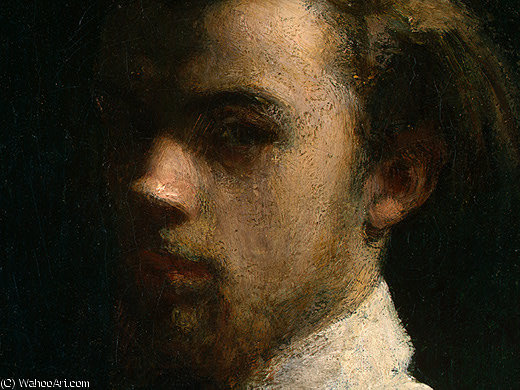 self portrait (detail 1) -, 1858 by Henri Fantin Latour (1836-1904, France)