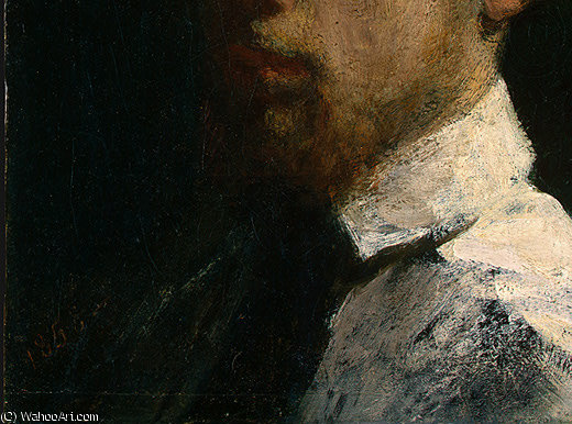 self portrait (detail - ) by Henri Fantin Latour (1836-1904, France)