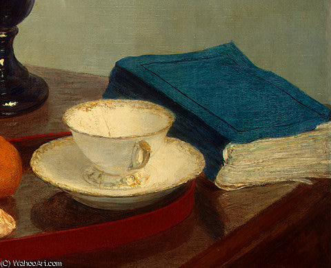 still life (detail - ) by Henri Fantin Latour (1836-1904, France)