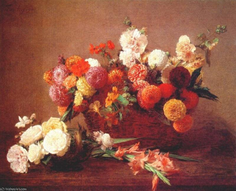 these are the flowers of middle summer, 1890 by Henri Fantin Latour (1836-1904, France)