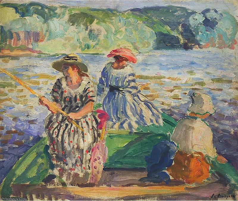 a fishing expedition, 1920 by Henri Lebasque (1865-1937, France) | Reproductions Henri Lebasque | ArtsDot.com