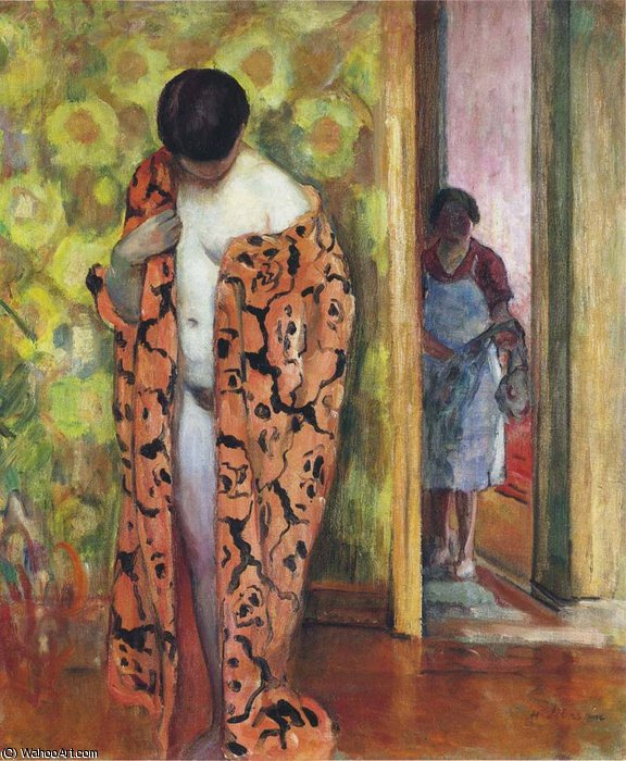 the japanese robe by Henri Lebasque (1865-1937, France) | Paintings Reproductions Henri Lebasque | ArtsDot.com