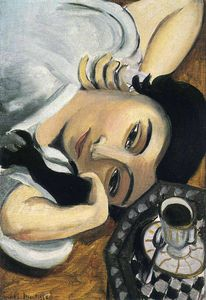 Henri Matisse - Lorette with Cup of Coffee,
