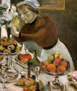 Henri Matisse - the dinner table (detail) -