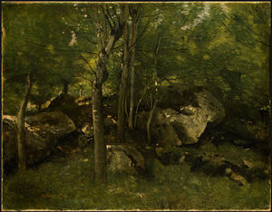 Jean Baptiste Camille Corot - Rocks in the Forest of Fontainebleau