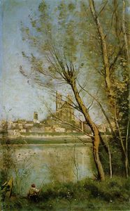 Jean Baptiste Camille Corot - The Cathedral of Mantes