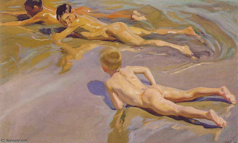 Children on the Beach by Joaquin Sorolla Y Bastida (1863-1923, Spain)