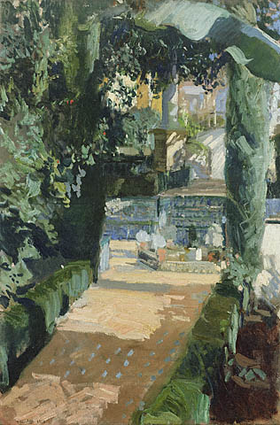Court of the Dances Alcazar Sevilla by Joaquin Sorolla Y Bastida (1863-1923, Spain)