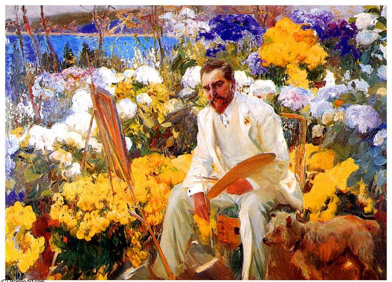 louis comfort tiffany, 1911 by Joaquin Sorolla Y Bastida (1863-1923, Spain)