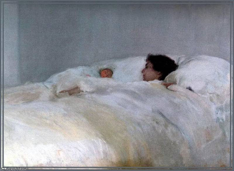 madre, 1895 by Joaquin Sorolla Y Bastida (1863-1923, Spain)