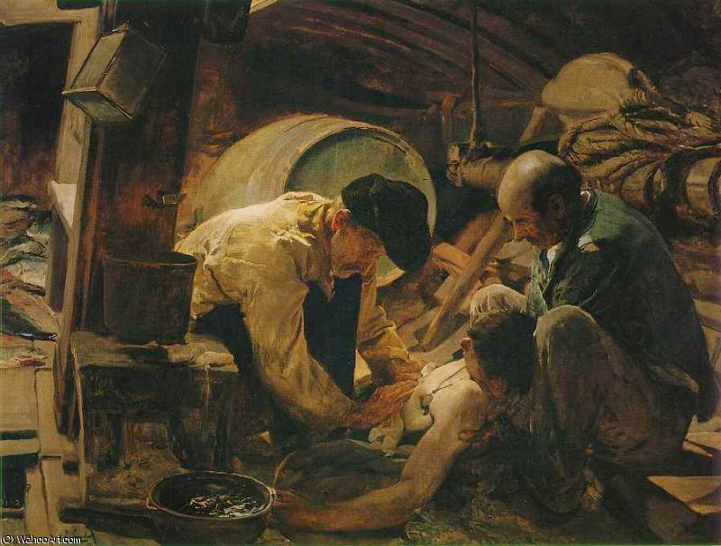 they still say that fish is expensive by Joaquin Sorolla Y Bastida (1863-1923, Spain)
