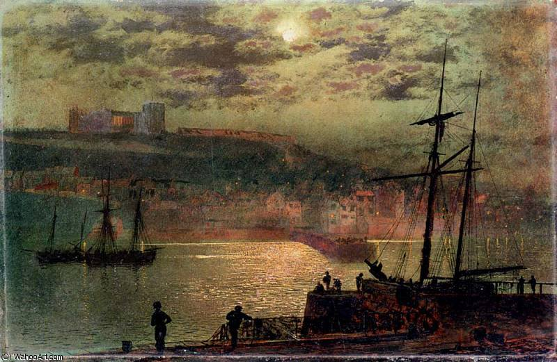 Whitby from Scotch Head by John Atkinson Grimshaw (1836-1893, United Kingdom)