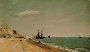 John Constable - Brighton Beach with Colliers