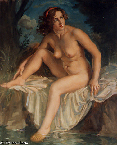 baigneuse by Jorge Apperley (George Owen Wynne Apperley) (1884-1960, United Kingdom)