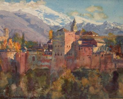 View of the Alhambra by Jorge Apperley (George Owen Wynne Apperley) (1884-1960, United Kingdom) | Museum Art Reproductions | ArtsDot.com
