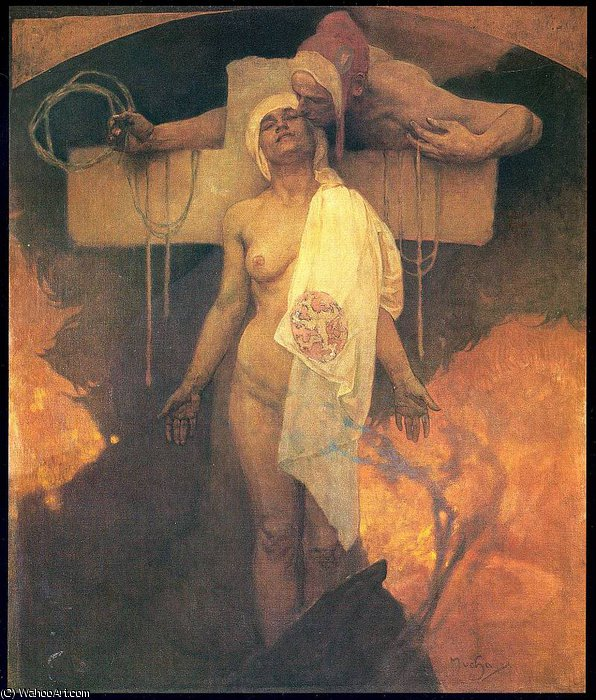 untitled (9559) by Alfons Maria Mucha (1860-1939, Czech Republic) | Painting Copy | ArtsDot.com