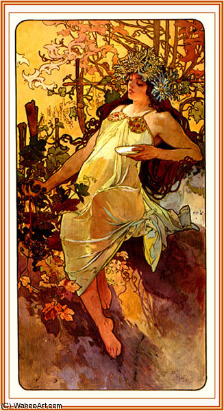 untitled (1286) by Alfons Maria Mucha (1860-1939, Czech Republic) | Painting Copy | ArtsDot.com
