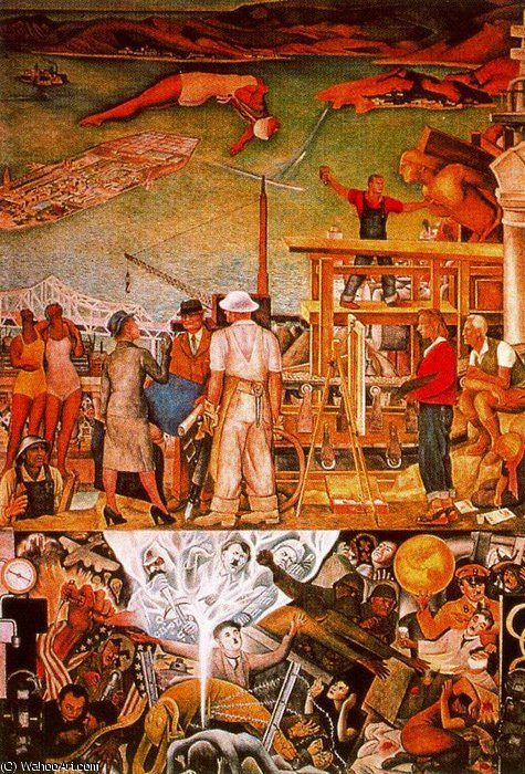 untitled (1262) by Diego Rivera (1886-1957, Mexico)