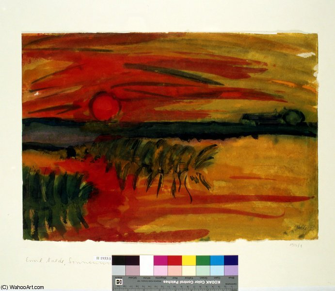 untitled (6007) by Emile Nolde (1867-1956, Germany)