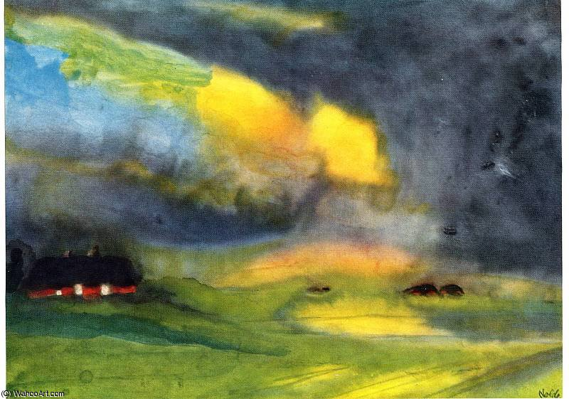 untitled (7281) by Emile Nolde (1867-1956, Germany)