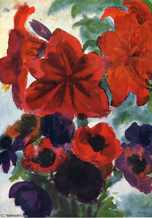untitled (1480) by Emile Nolde (1867-1956, Germany)