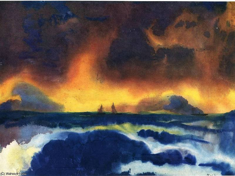 untitled (1375) by Emile Nolde (1867-1956, Germany) | Museum Quality Reproductions | ArtsDot.com