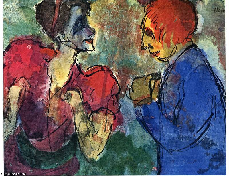 untitled (6882) by Emile Nolde (1867-1956, Germany)