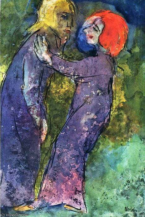 untitled (1951) by Emile Nolde (1867-1956, Germany)