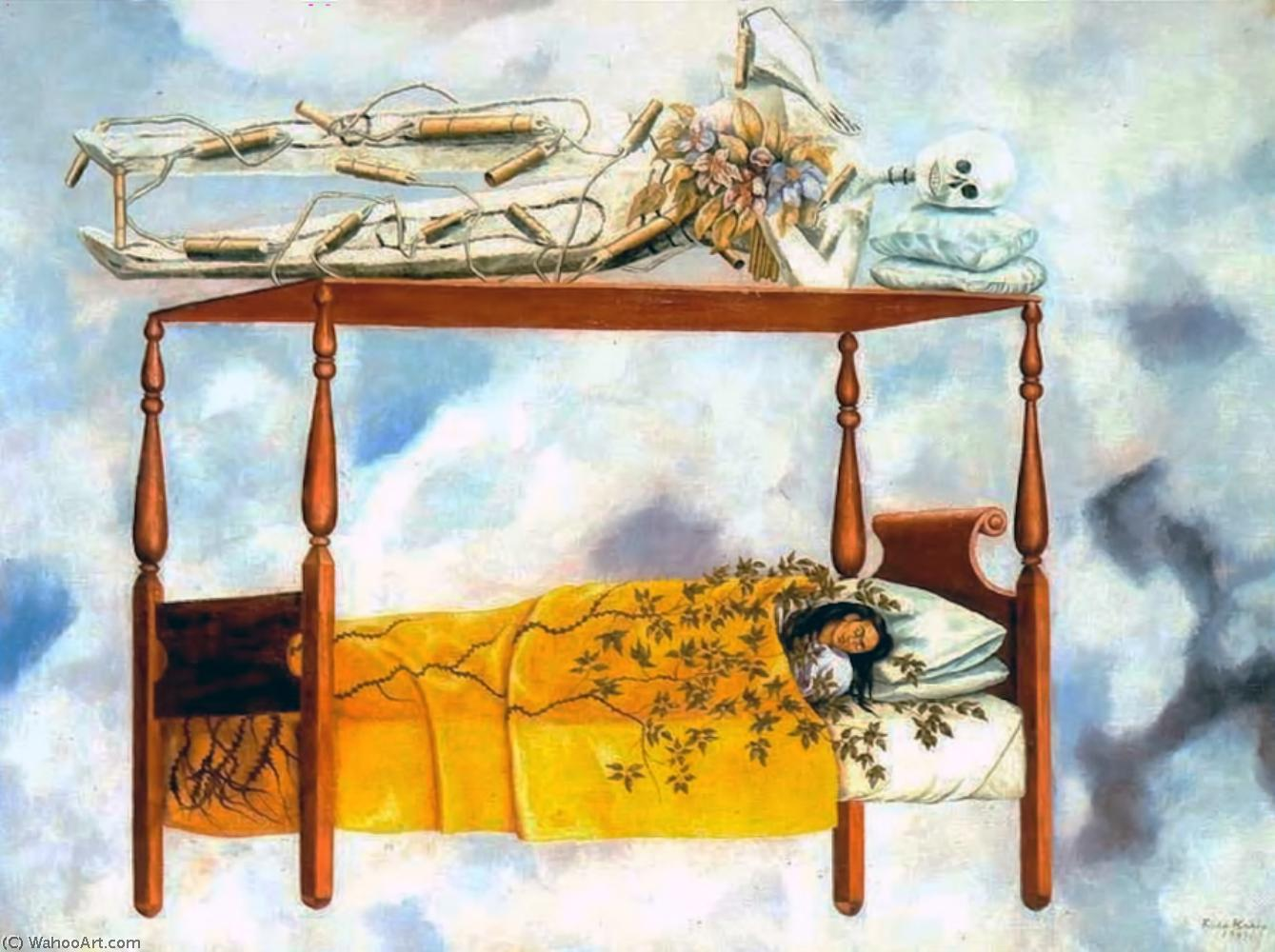 The Dream (The Bed), Oil On Canvas by Frida Kahlo (1907-1954, Mexico)