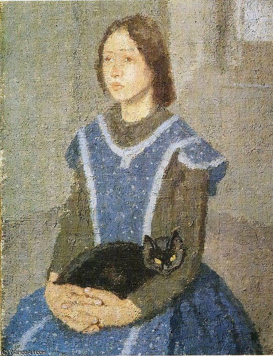 untitled (8540) by Gwen John (1876-1939, United States)