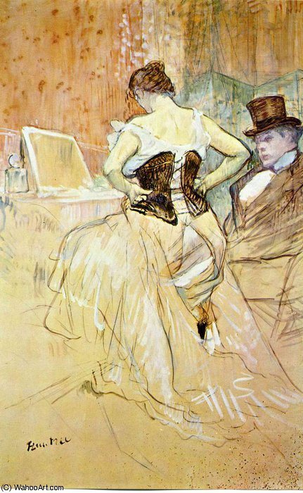 untitled (8450) by Henri De Toulouse Lautrec (1864-1901, France)
