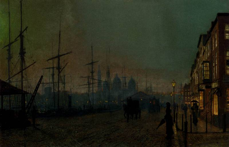 untitled (2094) by John Atkinson Grimshaw (1836-1893, United Kingdom)