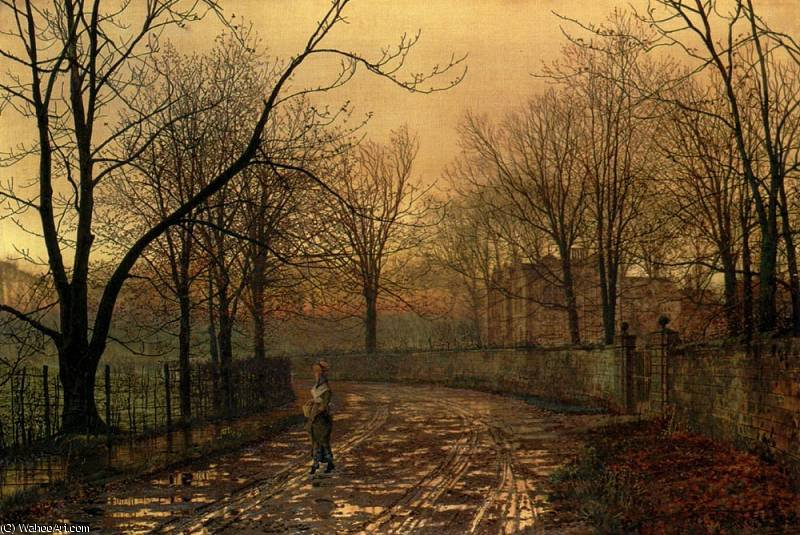 untitled (3478) by John Atkinson Grimshaw (1836-1893, United Kingdom)
