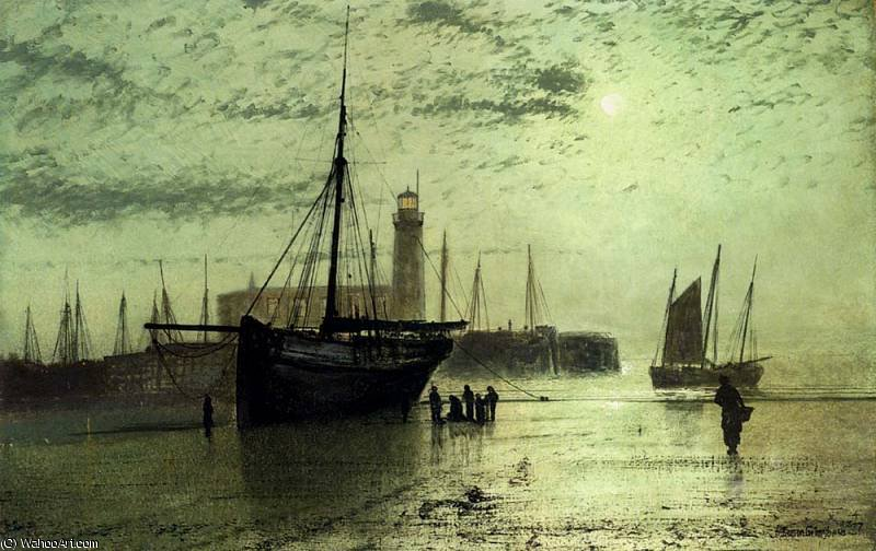 untitled (4541) by John Atkinson Grimshaw (1836-1893, United Kingdom) | Oil Painting | ArtsDot.com