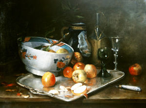 Eugene Henri Cauchois - Still Life With Apples