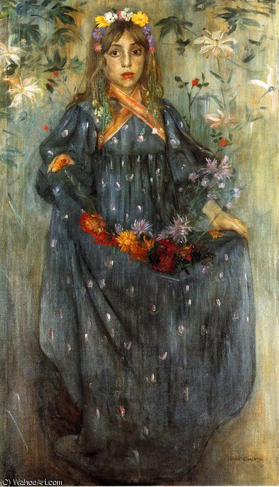 autumn flower by Lovis Corinth (Franz Heinrich Louis) (1858-1925, Netherlands)