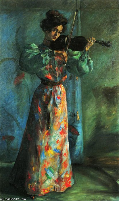 the violinist by Lovis Corinth (Franz Heinrich Louis) (1858-1925, Netherlands)