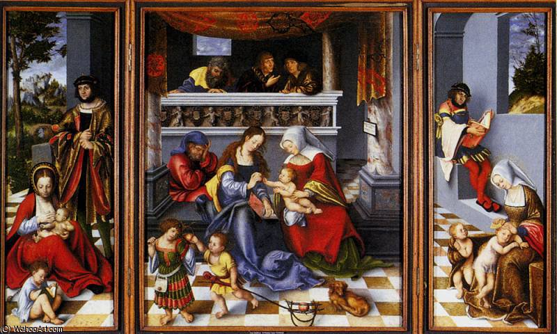 altar of the holy family by Lucas Cranach The Elder (1472-1553, Germany)