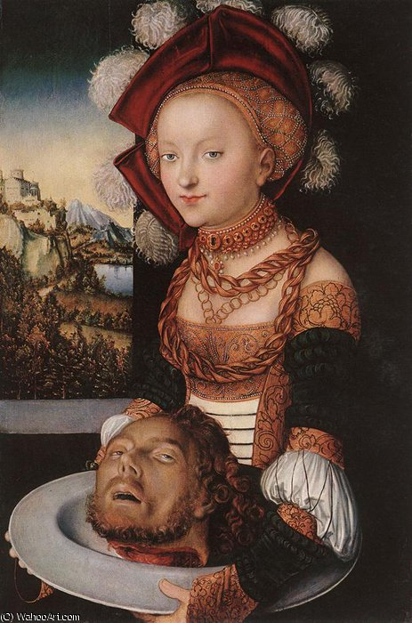 salome, 1530 by Lucas Cranach The Elder (1472-1553, Germany)