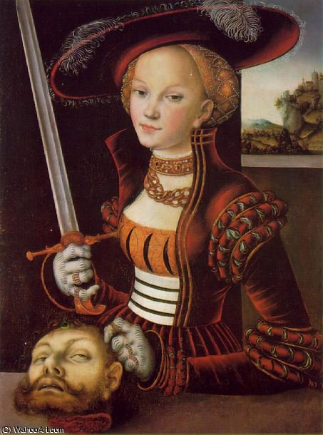 Judith victorious - -, 1530 by Lucas Cranach The Elder (1472-1553, Germany)