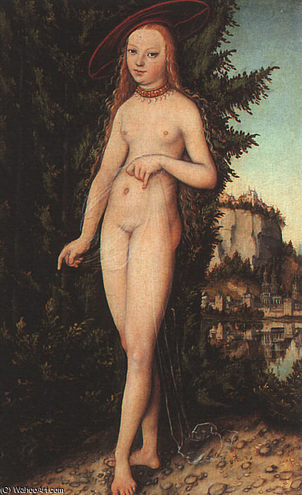 Venus Standing in a Landscape, 1529 by Lucas Cranach The Elder (1472-1553, Germany)