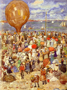 Maurice Brazil Prendergas.. - b the balloon