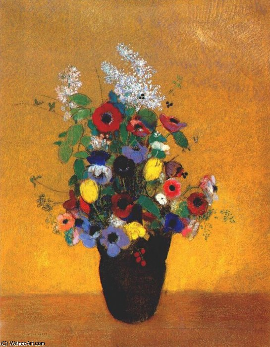 Order Museum Quality Reproductions : flowers, 1905 by Odilon Redon (1840-1916, France) | ArtsDot.com