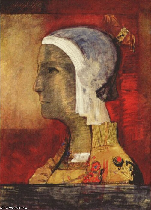 Order Museum Quality Reproductions : symbolic head, 1890 by Odilon Redon (1840-1916, France) | ArtsDot.com
