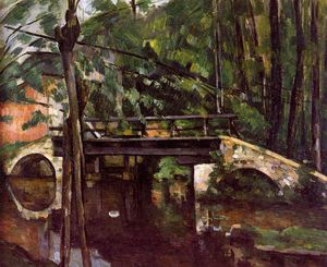 Paul Cezanne - The bridge of Maincy Sun