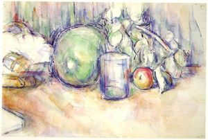 Paul Cezanne - Still Life with Green Melon