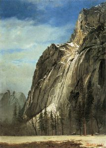 Albert Bierstadt - cathedral rocks a yosemite view