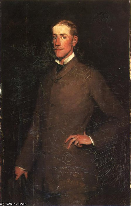 Portrait of Ralph Curtis by Frank Duveneck (1848-1919, United States)