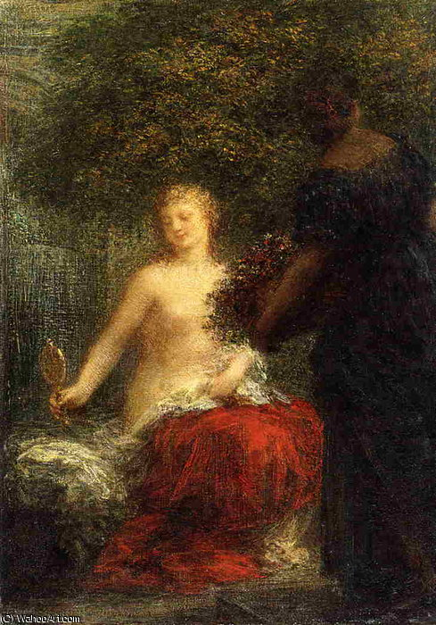 Woman at Her Toillette by Henri Fantin Latour (1836-1904, France)